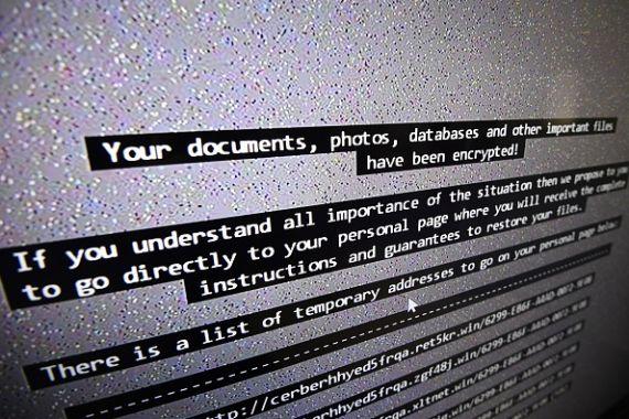 ransomware warning message
